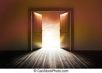 Door revealing bright light