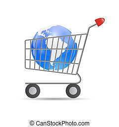 Global Shopping Concept Vector illustration