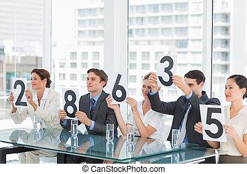grupo, panel, jueces, tenencia, raya, señales