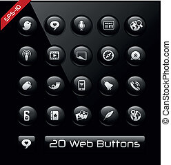 Social Network Icons -- Black Label - Vector buttons for...