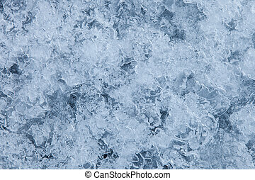 Blue ice background - Texture ice surface of a mountain...