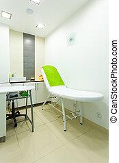Interior of modern healthy beauty spa salon. Treatment room.