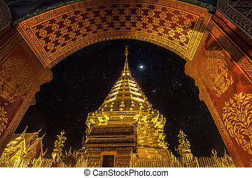 Night view Doi Suthep Chiang Mai, Thailand