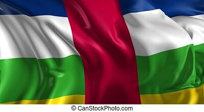 Flag of African republic - Beautiful 3d animation of the...