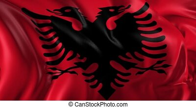 Flag of Albania - Beautiful 3d animation of the Albania flag...