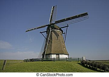 Windmill, Molen Het Noorden, Texel, Holland