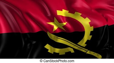Flag of Angola - Beautiful 3d animation of the Angola flag...