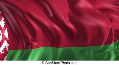 Flag of Belarus - Beautiful 3d animation of Belarus flag in...