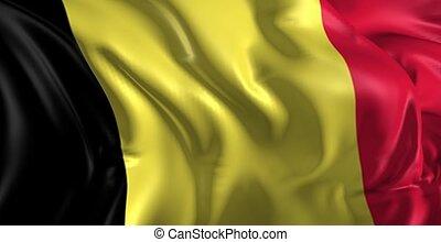 Flag of Belgium - Beautiful 3d animation of the Belgium in...