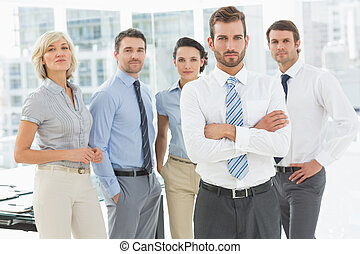 Confident business team together in office - Portrait of a...