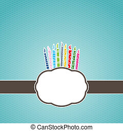 Birthday Candle Label Frame