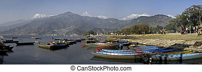 Phewi Lake - Boats in the foreground on Phewi Lake in...