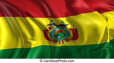 Flag of Bolivia - Beautiful 3d animation of Bolivia flag in...