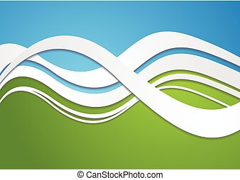 Bright wavy vector background - Abstract colorful wavy...