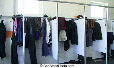 Changing room - Interior of a modern changing room