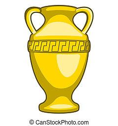 Amphora - Gold amphora. No mash, no gradient . Vector