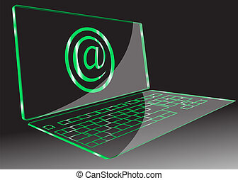 transparent computer. Vector