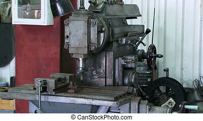 Drilling machine - Industrial drilling machine. Close-up
