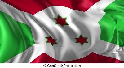 Flag of Burundi - Beautiful 3d animation of Burundi Flag in...