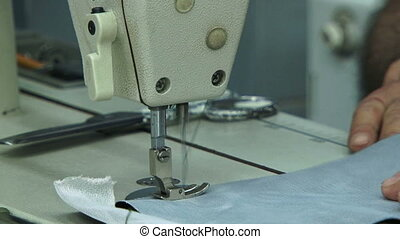 Machinist sewing Close-up