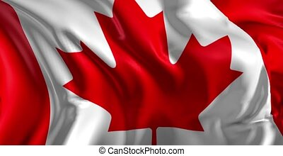 Flag of Canada - Beautiful 3d animation of Canada flag in...