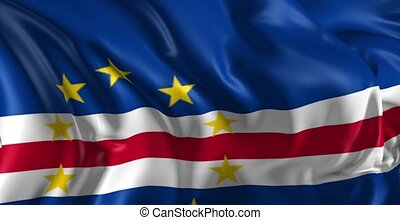 Flag of Cape Verde - Beautiful 3d animation of Flag of Cape...