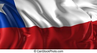 Flag of Chile - Beautiful 3d animation of Chile flag in loop...