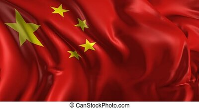 Flag of china - Beautiful 3d animation of China flag in loop...
