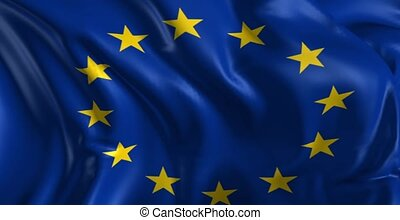Flag of the European Union - Beautiful 3d animation of the...