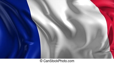 Flag of France - Beautiful   3d animation of France flag