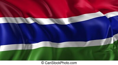 Flag of Gambia - Beautiful 3d animation of Gambia flag in...
