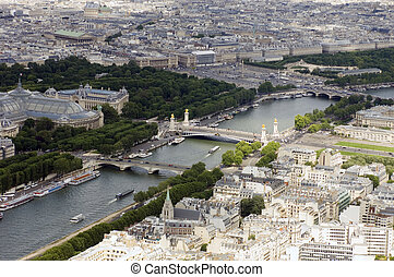 Place de la Concorde from above - The parisian skyline seen...
