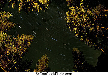 North Cascades Star trail - Startrails in the North Cascades...