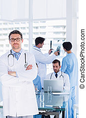 Doctors at work in medical office