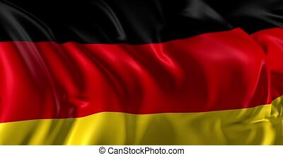 Flag of Germany - Beautiful 3d animation of Germany flag in...