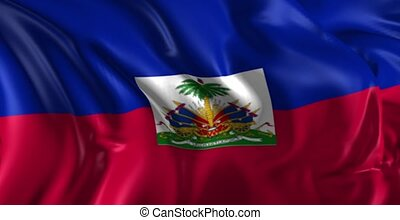 Flag of Haiti - Beautiful 3d animation of Haiti flag in loop...
