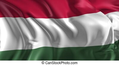 Flag of Hungaria - Beautiful 3d animation of Hungarian flag...