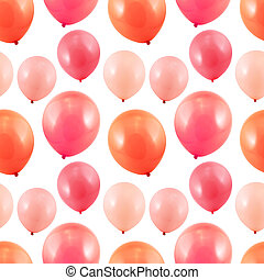 Pink balloon composition as a seamless party themed...