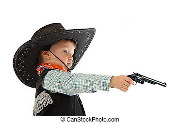 Cowboy child with a gun