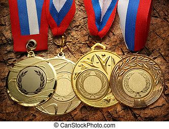 metal, Medallas