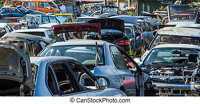 Car Wreckers Yard - End of the road for these cars, just...
