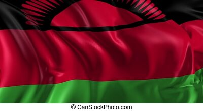 Flag of Malawi - Beautiful 3d animation of The Malawi flag...