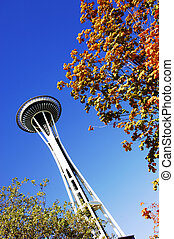 Seattle Space Needle - The seattle space needle in the...