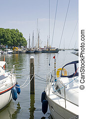 Enkhuizen Harbor - The tourist harbor of Enkhuizen, the...