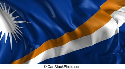 Flag of Marshall Islands - Beautiful 3d animation of The...