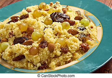 Mesfouf - Citrus Couscous Salad - Mesfouf is an Algerian and...