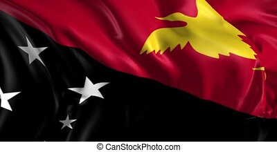 Flag of Papua New Guinea - Beautiful 3d animation of Papua...