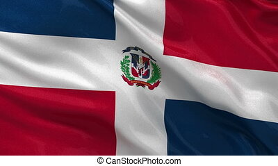 Flag of the Dominican Republic loop - Flag of the Dominican...