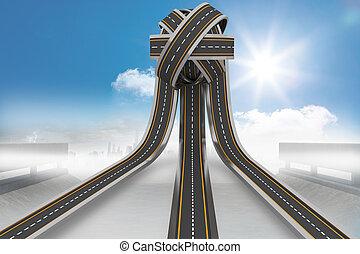 caminos, Pelota, enredado