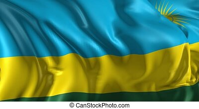 Flag of Rwanda - Beautiful 3d animation of The Rwanda flag...